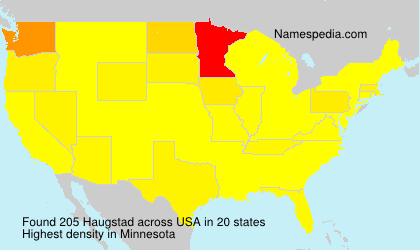 Surname Haugstad in USA