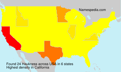 Surname Haukness in USA