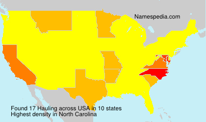 Surname Hauling in USA