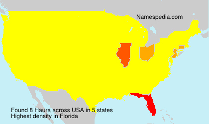 Surname Haura in USA