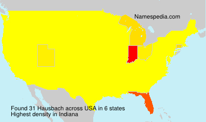 Surname Hausbach in USA
