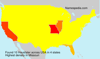 Surname Hausfater in USA