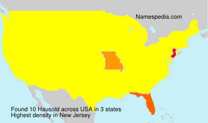 Surname Hausold in USA