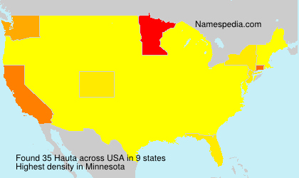 Surname Hauta in USA