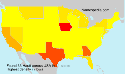 Surname Hautt in USA