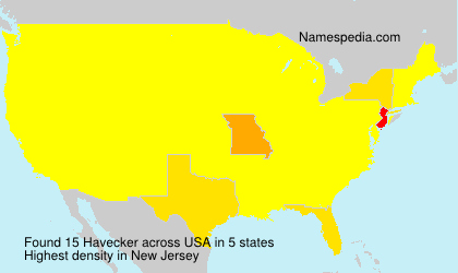 Surname Havecker in USA