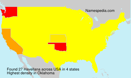 Surname Havellana in USA
