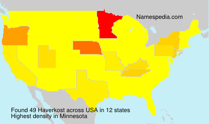 Surname Haverkost in USA