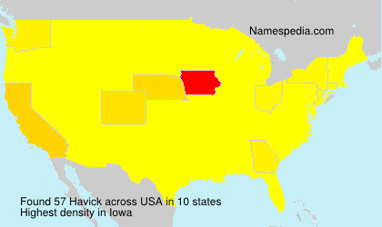 Surname Havick in USA