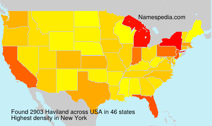 Surname Haviland in USA