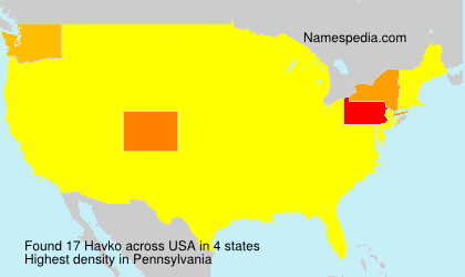 Surname Havko in USA