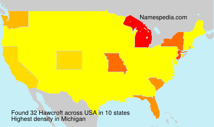 Surname Hawcroft in USA