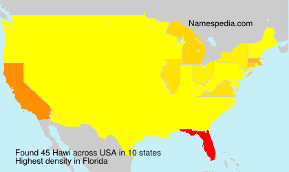 Surname Hawi in USA