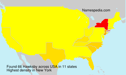 Surname Hawksby in USA