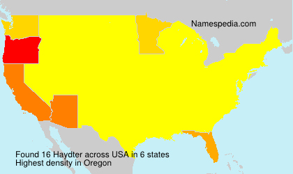 Surname Haydter in USA