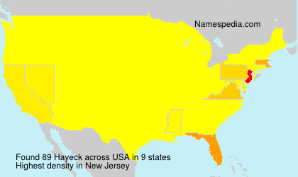 Surname Hayeck in USA