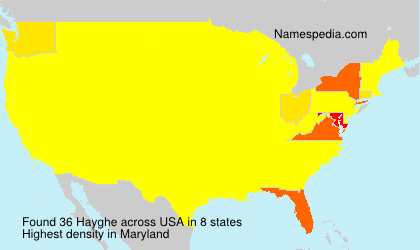 Surname Hayghe in USA