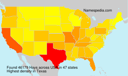 Surname Hays in USA