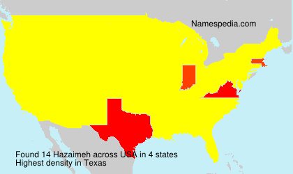 Surname Hazaimeh in USA