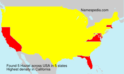 Surname Haziel in USA