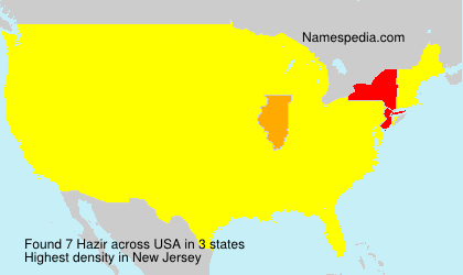 Surname Hazir in USA