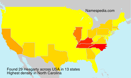 Surname Heagarty in USA