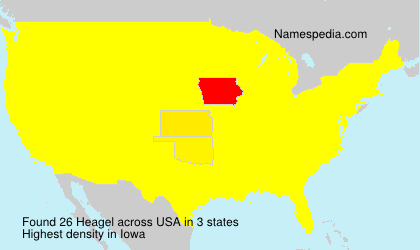 Surname Heagel in USA