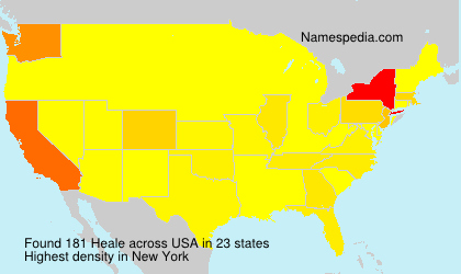 Surname Heale in USA