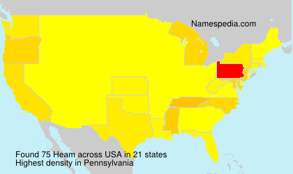 Surname Heam in USA