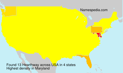 Surname Hearthway in USA
