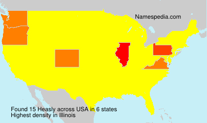 Surname Heasly in USA