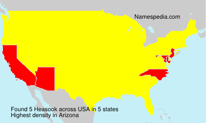 Surname Heasook in USA