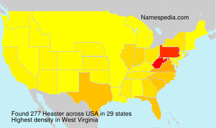 Surname Heaster in USA