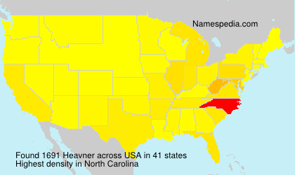 Surname Heavner in USA