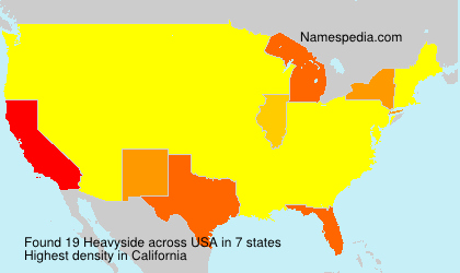 Surname Heavyside in USA