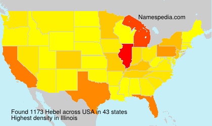 Surname Hebel in USA