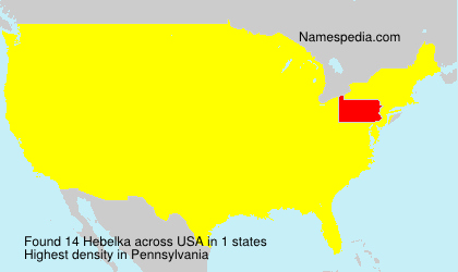 Surname Hebelka in USA