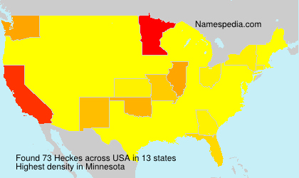 Surname Heckes in USA