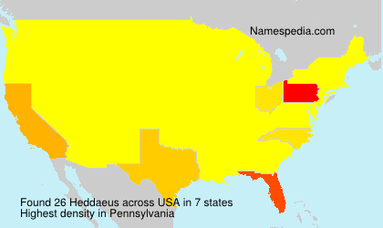 Surname Heddaeus in USA