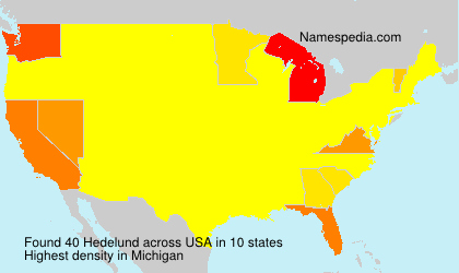 Surname Hedelund in USA