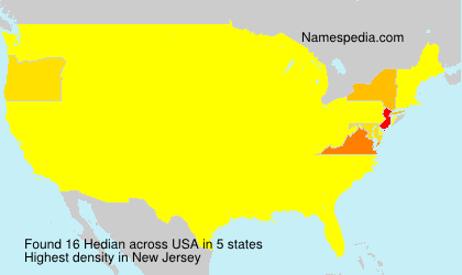 Surname Hedian in USA