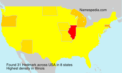 Surname Hedmark in USA