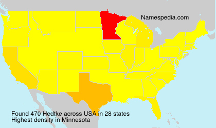 Surname Hedtke in USA