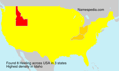 Surname Heeling in USA
