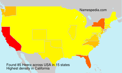 Surname Heera in USA