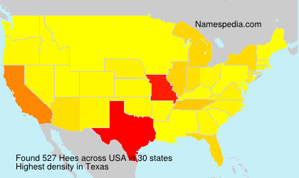 Surname Hees in USA