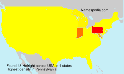 Surname Hefright in USA