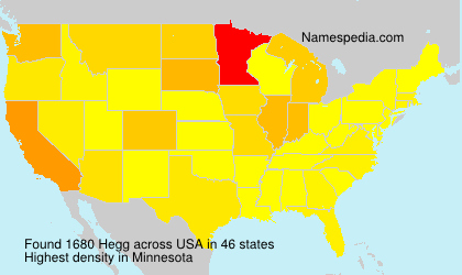 Surname Hegg in USA