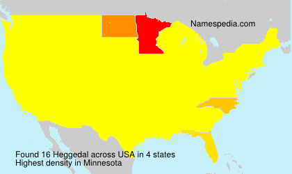 Surname Heggedal in USA