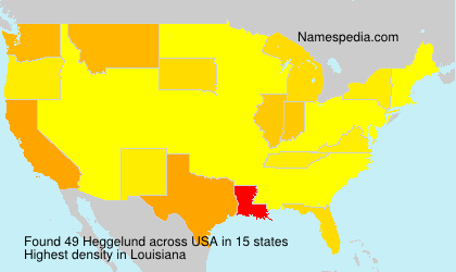 Surname Heggelund in USA